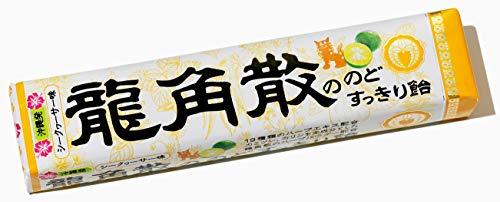 龍角散ののどすっきり飴シークヮーサー味 スティック 10本