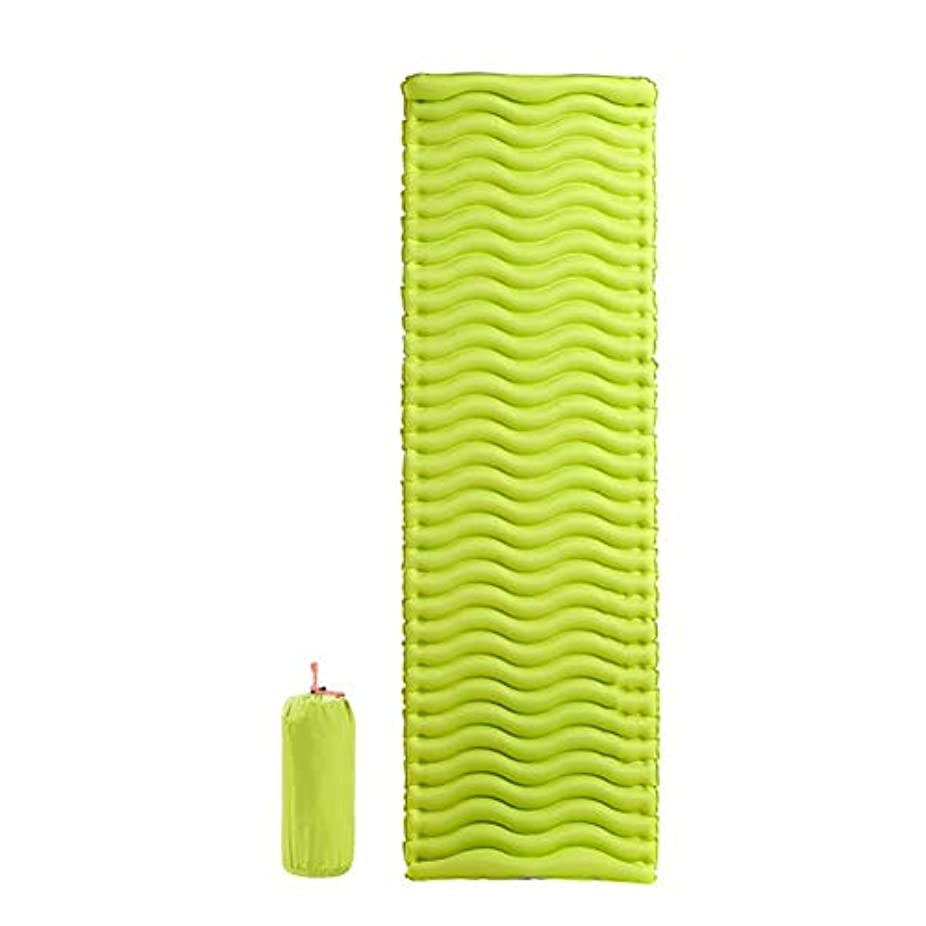 かすかな冷える浸透する超軽量の膨脹可能な寝台、バックパッキングのための密集した空気キャンプのマットの膨脹可能な睡眠のマットレスロールエアベッド (色 : 黄, サイズ さいず : L l)