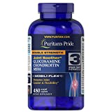 Puritan's Pride Double Strength Glucosamine, Chondroitin & MSM Joint Soother Caplets, 480ct