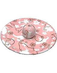 9-46 ねこランド(ピンク) 9cm香皿 日本製 お香立て 陶器 猫柄