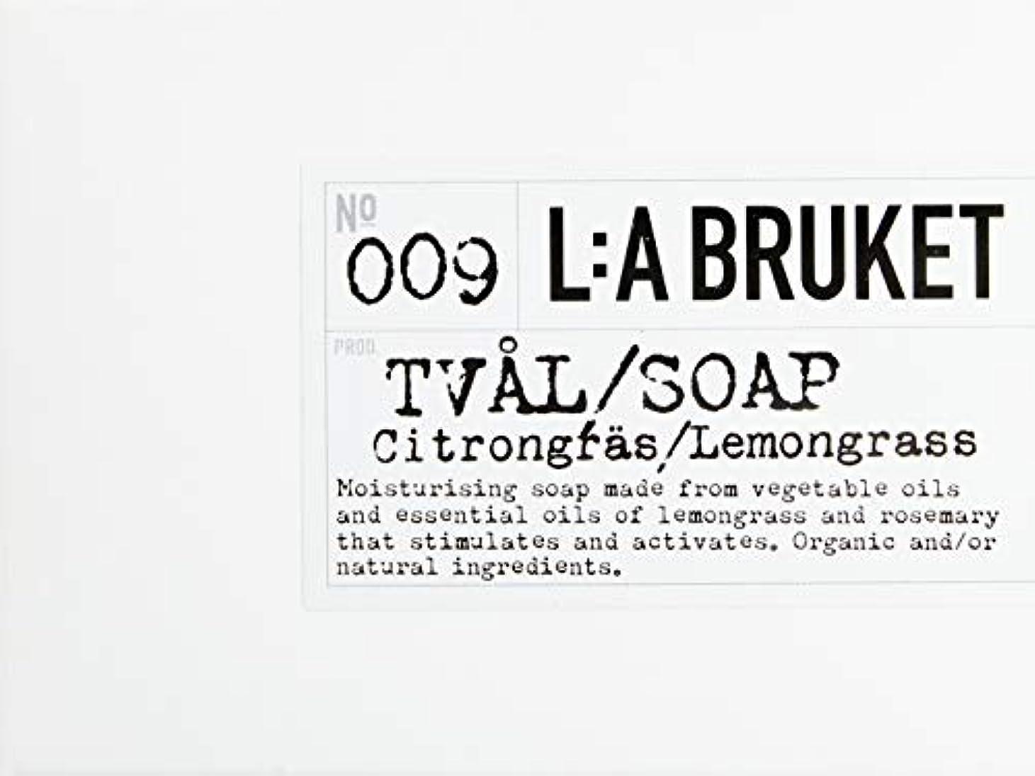 怒り羊のマークされたL:a Bruket (ラ ブルケット) バーソープ (レモングラス) 120g