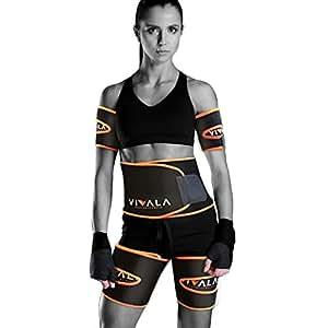 VIVALA オールセット ARM&THIGH&WAIST ビバラ 太腿・腕用・お腹セット シェイプアップベルト 発汗 サウナ 二の腕 太腿 お腹引き締め