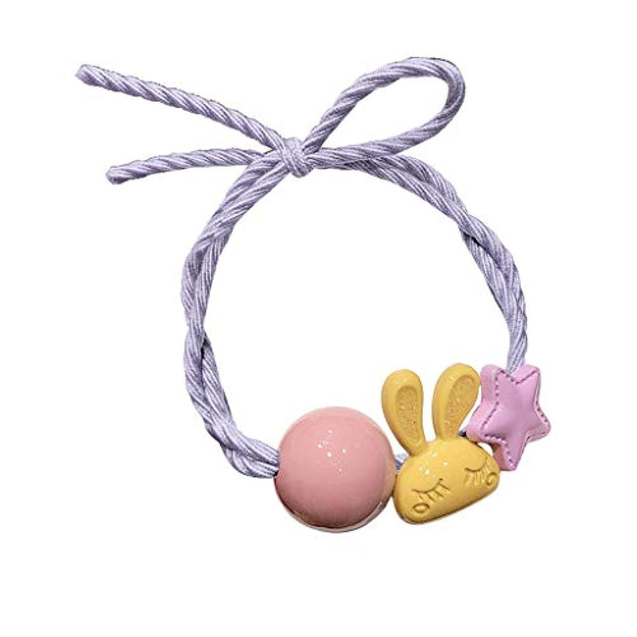 振る舞う時間地元女性の女の子子供のヘアバンドネクタイロープリング弾性ヘアバンドポニーテールホルダー ウサギの髪のリングブレスレットデュアルヘッドロープの女の子シンプルな髪のロープ韓国ネット赤いネクタイヘアバンドヘアアクセサリー (C)
