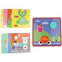 Fityle クリエイティブ マッシュルーム ネイル ペグボード ジグソーパズル ゲーム カラー 幾何学模様 お揃いの教育玩具 子供へのギフト