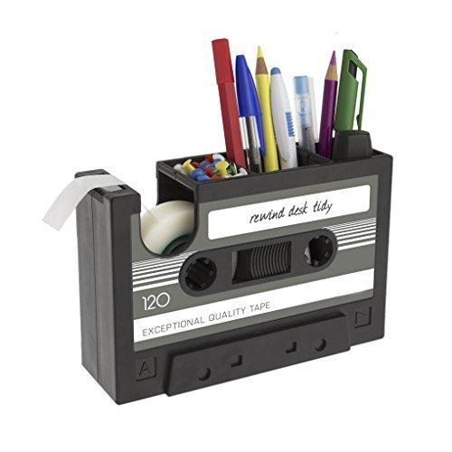 スマートデスクオーガナイザー おしゃれ テープカッター ペン立て ラジオ デザイン 文具ホルダー デスクペ...