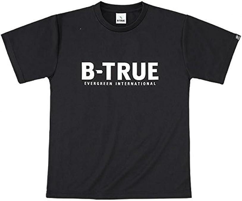 湿度宣伝相反するエバーグリーン(EVERGREEN) B-TRUE ドライTシャツ Aタイプ S ブラック.