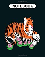Notebook: tigers ball  College Ruled - 50 sheets, 100 pages - 8 x 10 inches