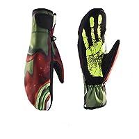防寒グローブ ユニセックス冬スキーサーマルバッグは手袋を指します スポーツグローブ (Color : Green, Size : S)