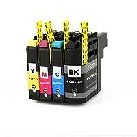 プリンター インク ブラザー LC111-4PK 4色 増量 LC111 互換インクカートリッジ 残量表示付