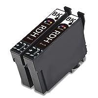 RDH ブラック2個 増量版 EPSON (エプソン)用 互換インクカートリッジ ICチップ付き 対応機種: PX-048A PX-049A
