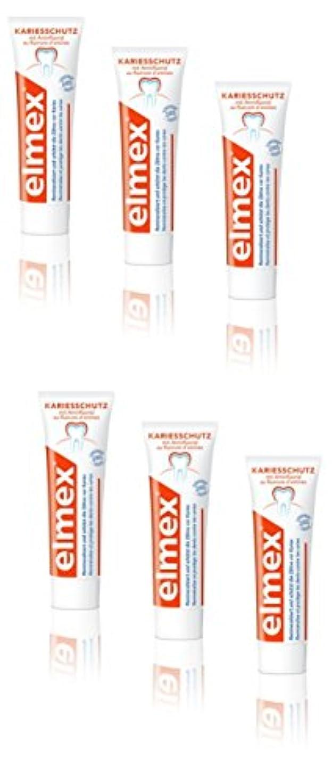 休憩する討論リーElmex Toothpaste (製: コルゲート) 製歯磨き粉 75ml 6個入り [欧州] [並行輸入品]