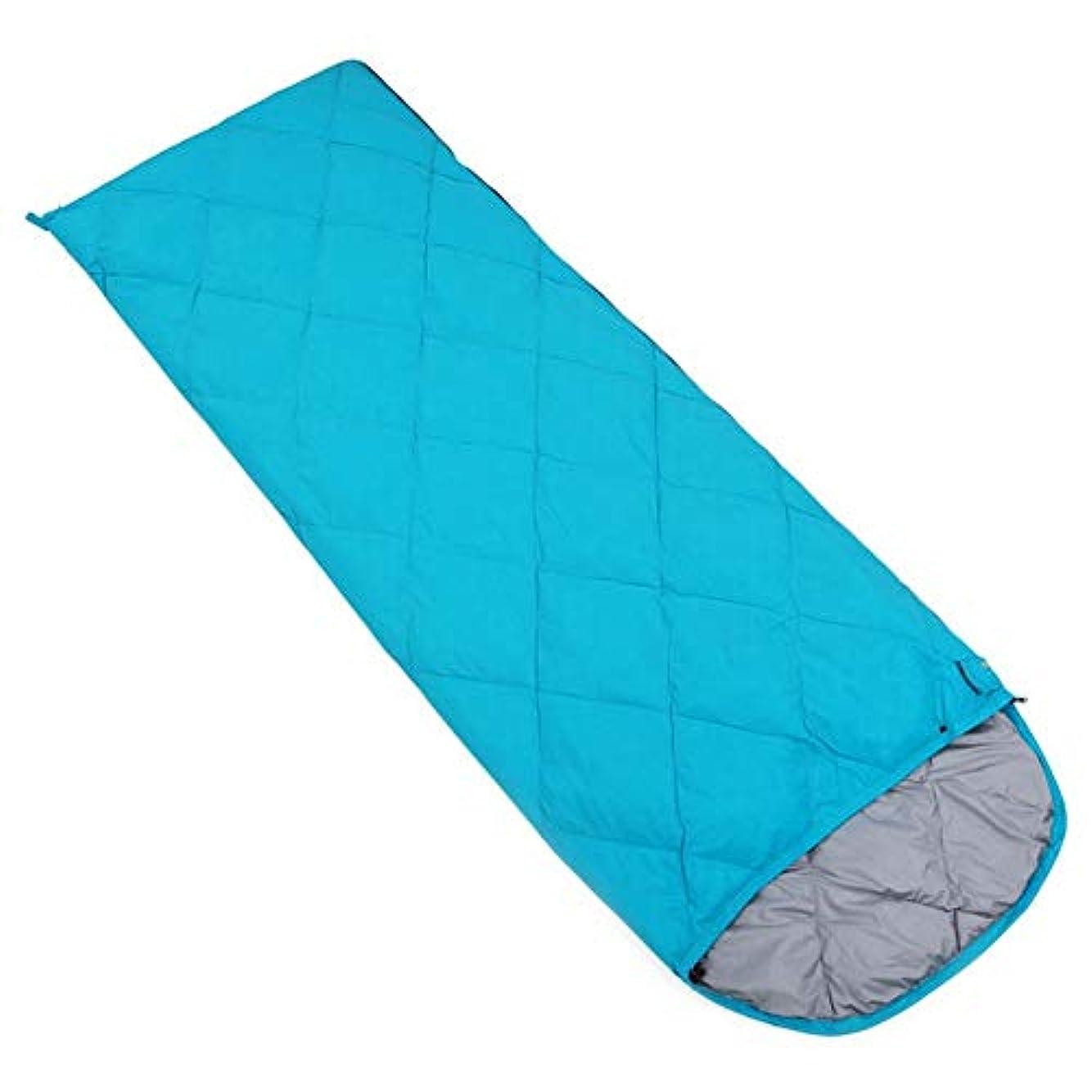 杖目指すくるみDurable,breathable,comfortableスリーピングバッグ、封筒長方形の睡眠袋防水軽量睡眠バッグ4シーズン屋内屋外ハイキングバックパックスリーピングパッド,blue,400g
