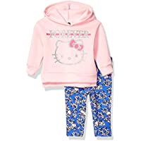 Hello Kitty Baby Girls 2 Piece Fleece Hoodie and Pant Legging Set, Pale