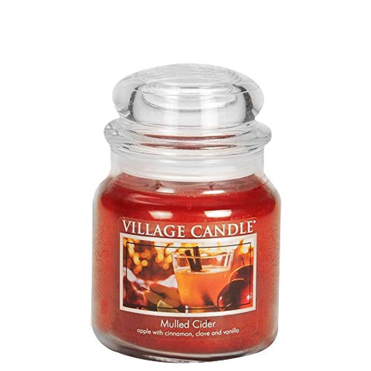 セメント主に家事(Medium (470ml)) - Village Candle Mulled Cider Jar Candle, 470ml Jar