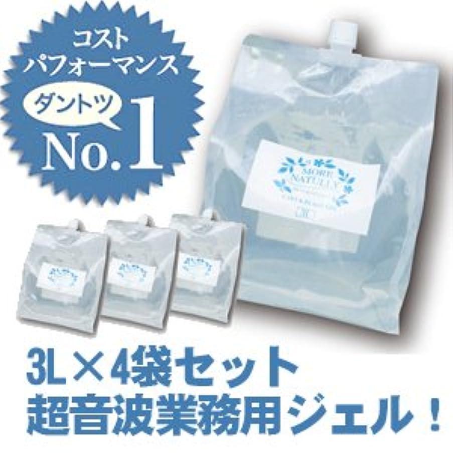 【4袋セット】 モアナチュリー キャビ&フラッシュジェル【ソフトタイプ】 4袋セット 3L×4袋 12L / 業務用超音波ジェル