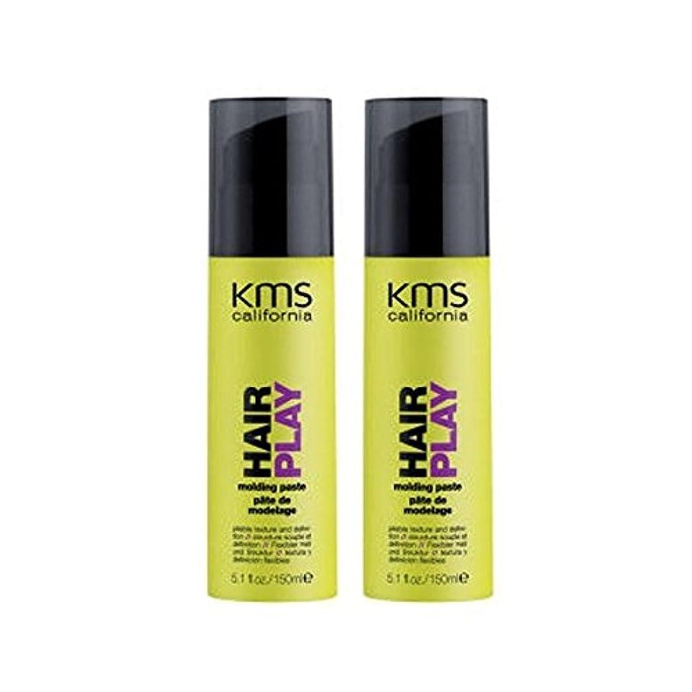 繕う取り扱い毎年カリフォルニア成形ペーストデュオを x4 - Kms California Hairplay Molding Paste Duo (Pack of 4) [並行輸入品]