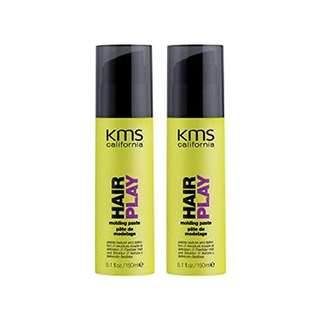 不潔コマンドライバルカリフォルニア成形ペーストデュオを x4 - Kms California Hairplay Molding Paste Duo (Pack of 4) [並行輸入品]