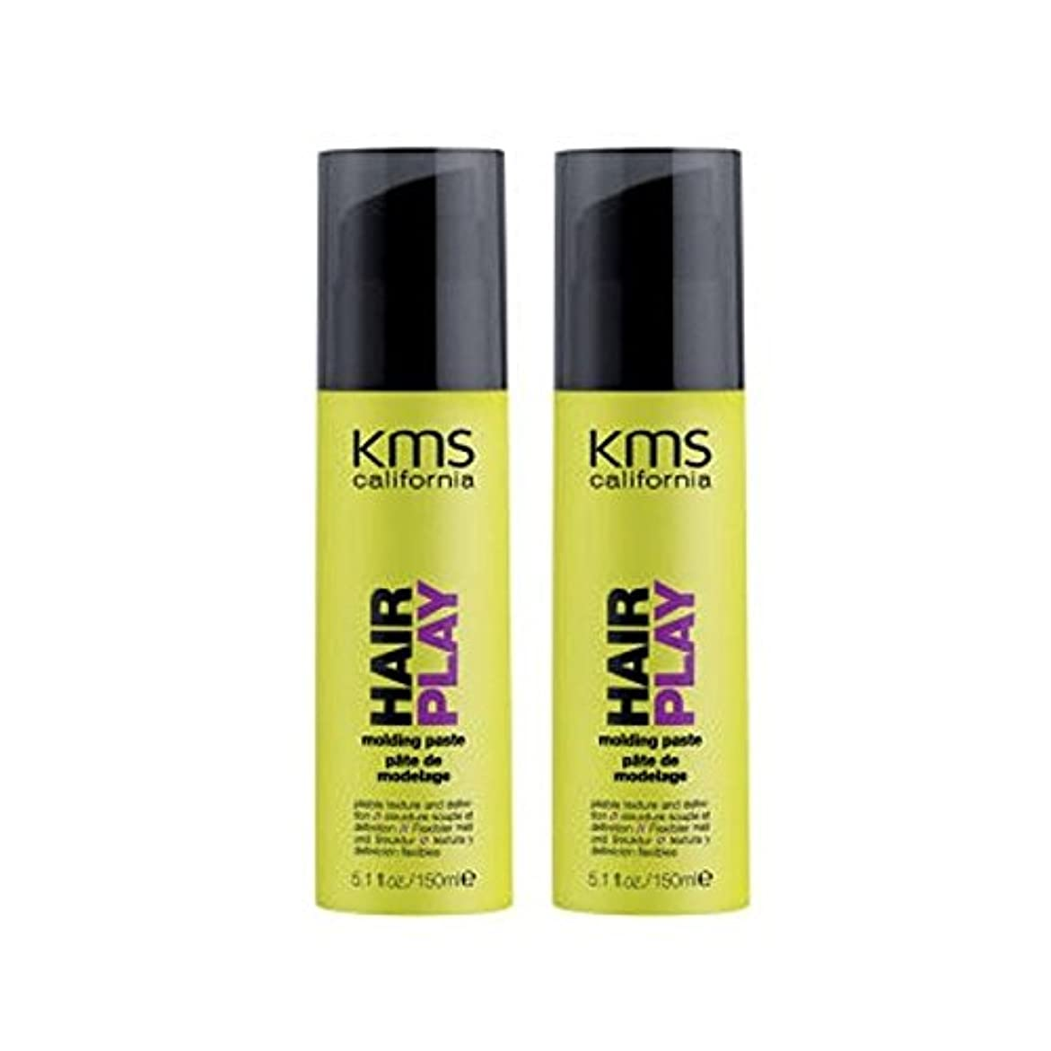 燃やす島単にカリフォルニア成形ペーストデュオを x2 - Kms California Hairplay Molding Paste Duo (Pack of 2) [並行輸入品]