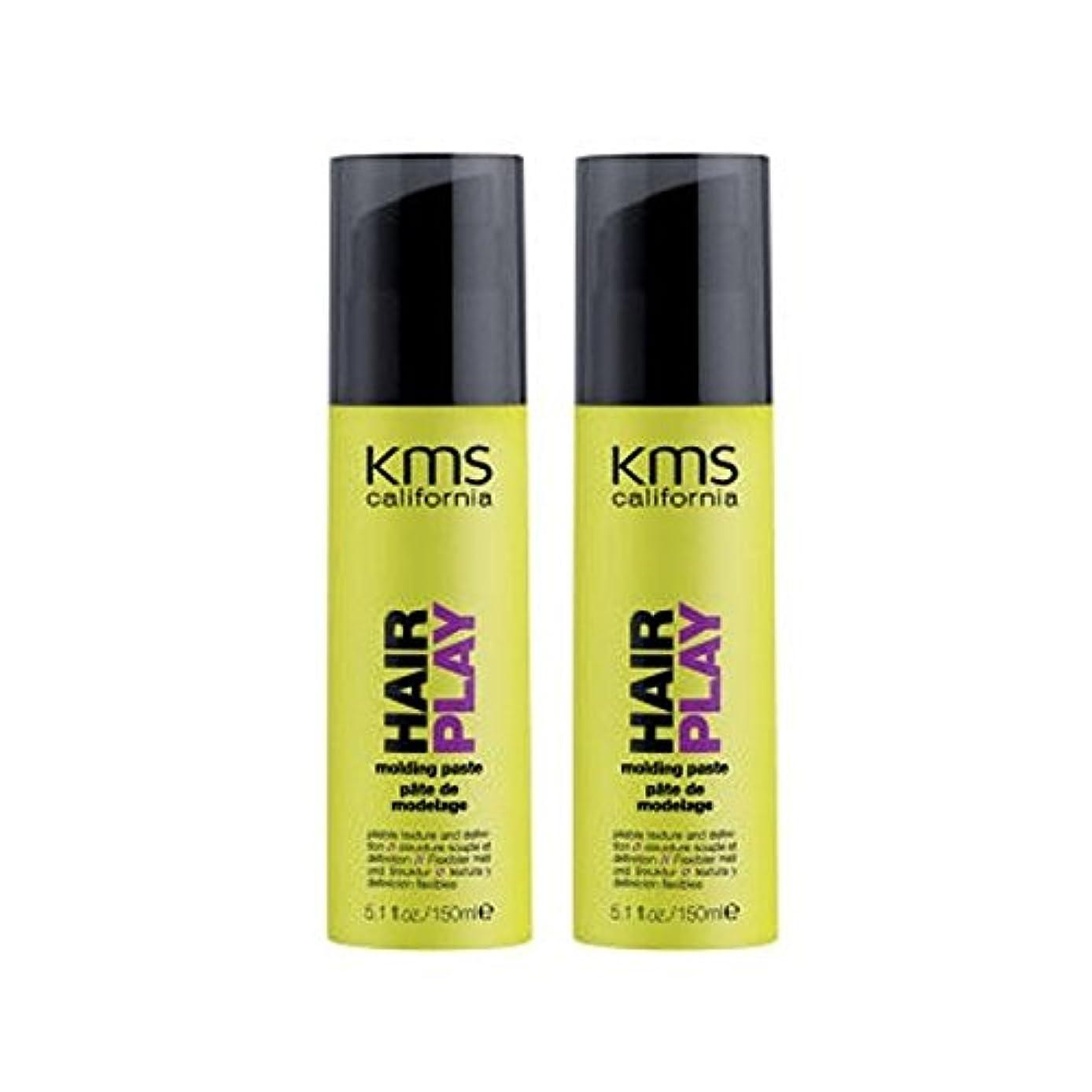 小道具不愉快禁止カリフォルニア成形ペーストデュオを x4 - Kms California Hairplay Molding Paste Duo (Pack of 4) [並行輸入品]