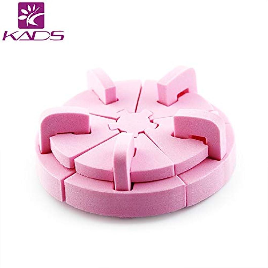 恐ろしい傾くアトミックKADSスポンジロータスネイルスタンド ネイル組み立て式 チップスタンド ネイル固定スタンド