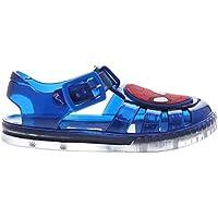 Character Wear Spiderman Water Jelly Sandals Infants Boys Blue Flip Flops Thongs Beach Shoes