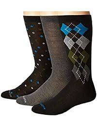 (スティーブマデン)STEVE MADDEN メンズソックス?靴下 6-Pack Fashion Crew Socks - Pattern [並行輸入品]