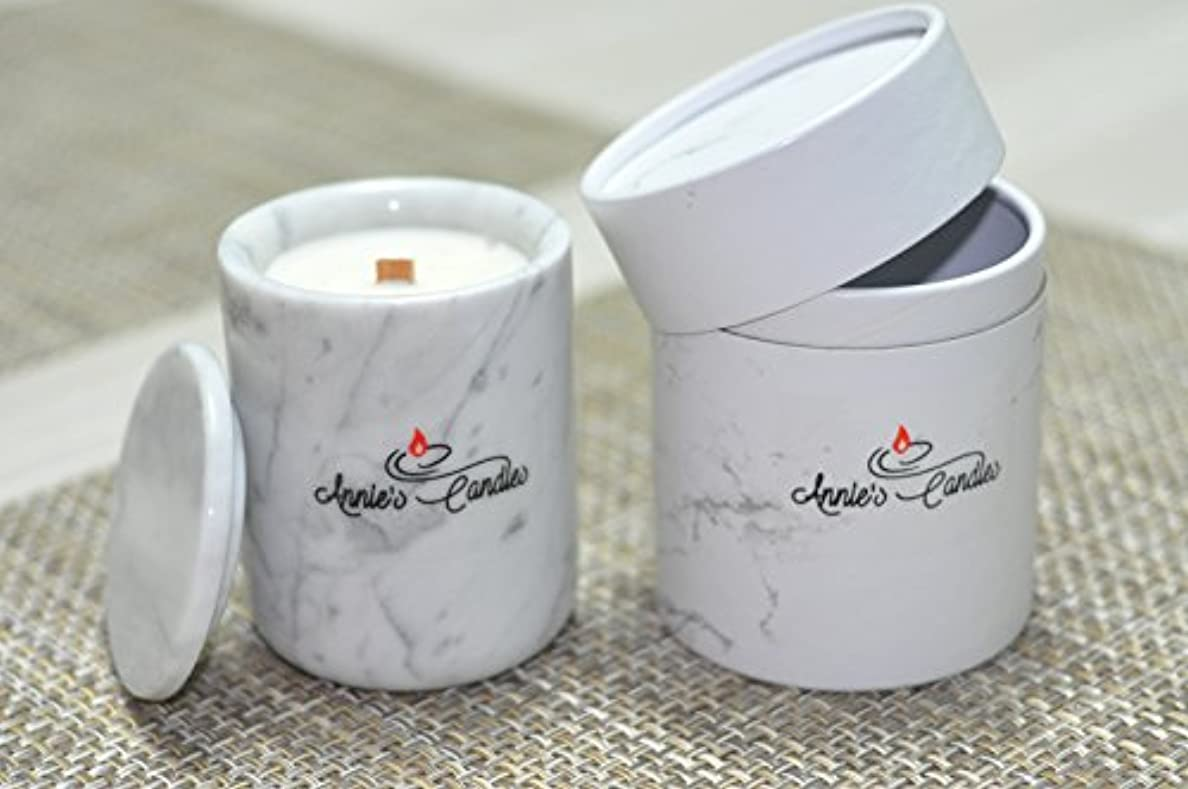 受益者傑出したエスニック大理石キャンドルホルダーScented Candle Gift Set