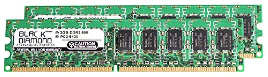 異常な妨げるハミングバード4GB 2X2GB RAM Memory for Dell Precision Workstation T3400 Black Diamond Memory Module 240pin PC2-6400 800MHz DDR2 ECC UDIMM Upgrade