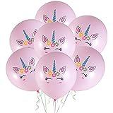 Amosfun 20ピース12インチラテックス風船かわいいラウンドユニコーン風船ヘリウム風船用ベビーシャワー子供誕生日パーティー用品装飾