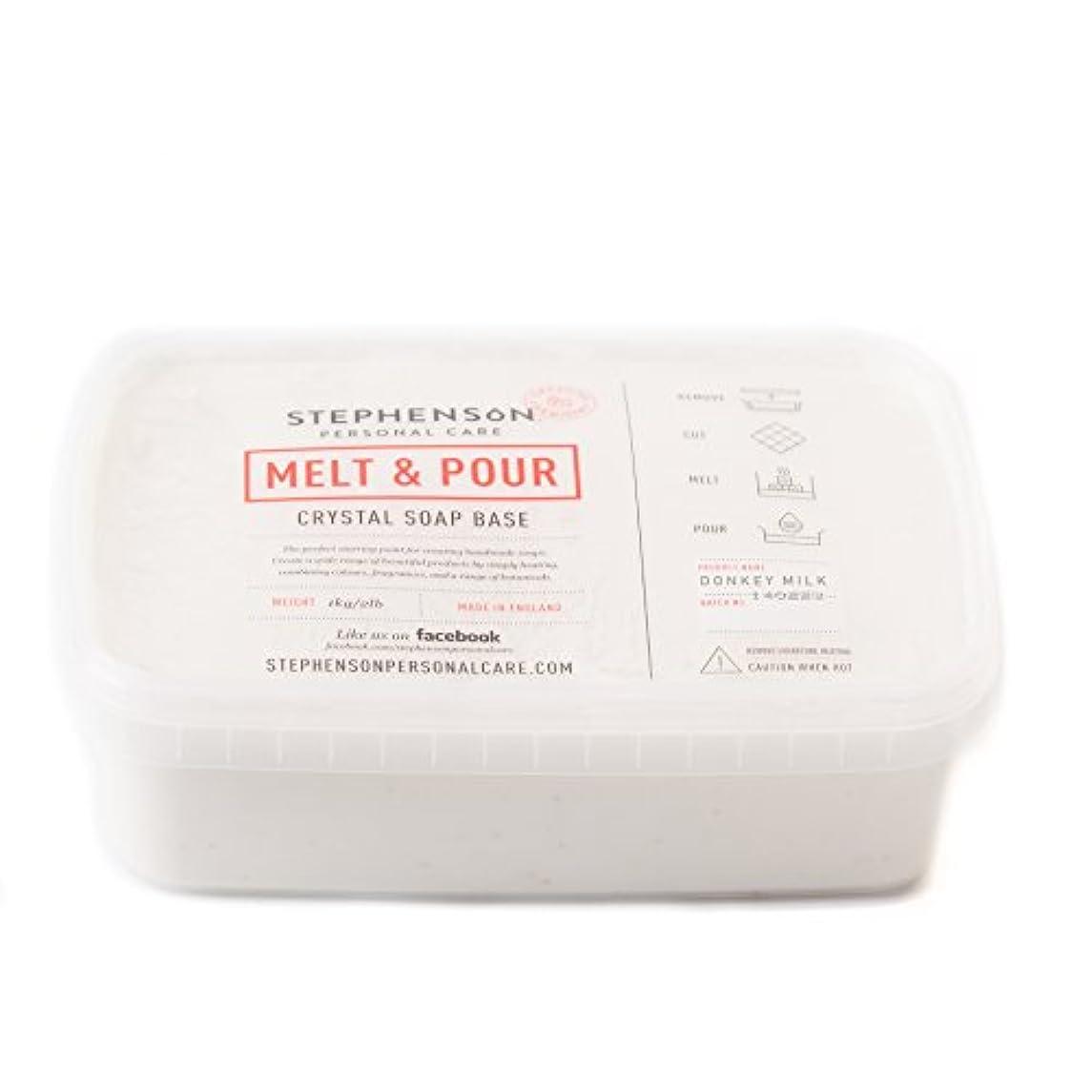 作成するゼロ結婚Melt and Pour Soap Base - Donkey Milk SLS FREE - 1Kg