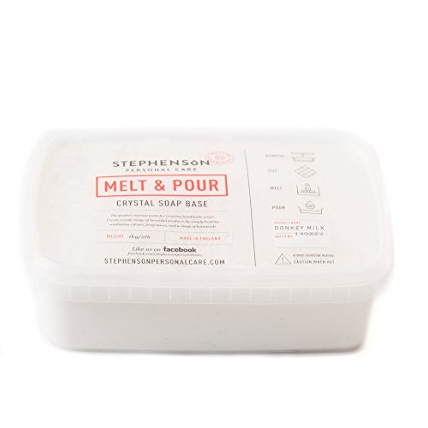 風邪をひくバンク損傷Melt and Pour Soap Base - Donkey Milk SLS FREE - 1Kg