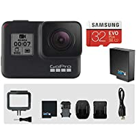 GoPro HERO7 BLACK本体 + 推奨SDカード+純正予備バッテリーセット【タジマモーター保証1年付】