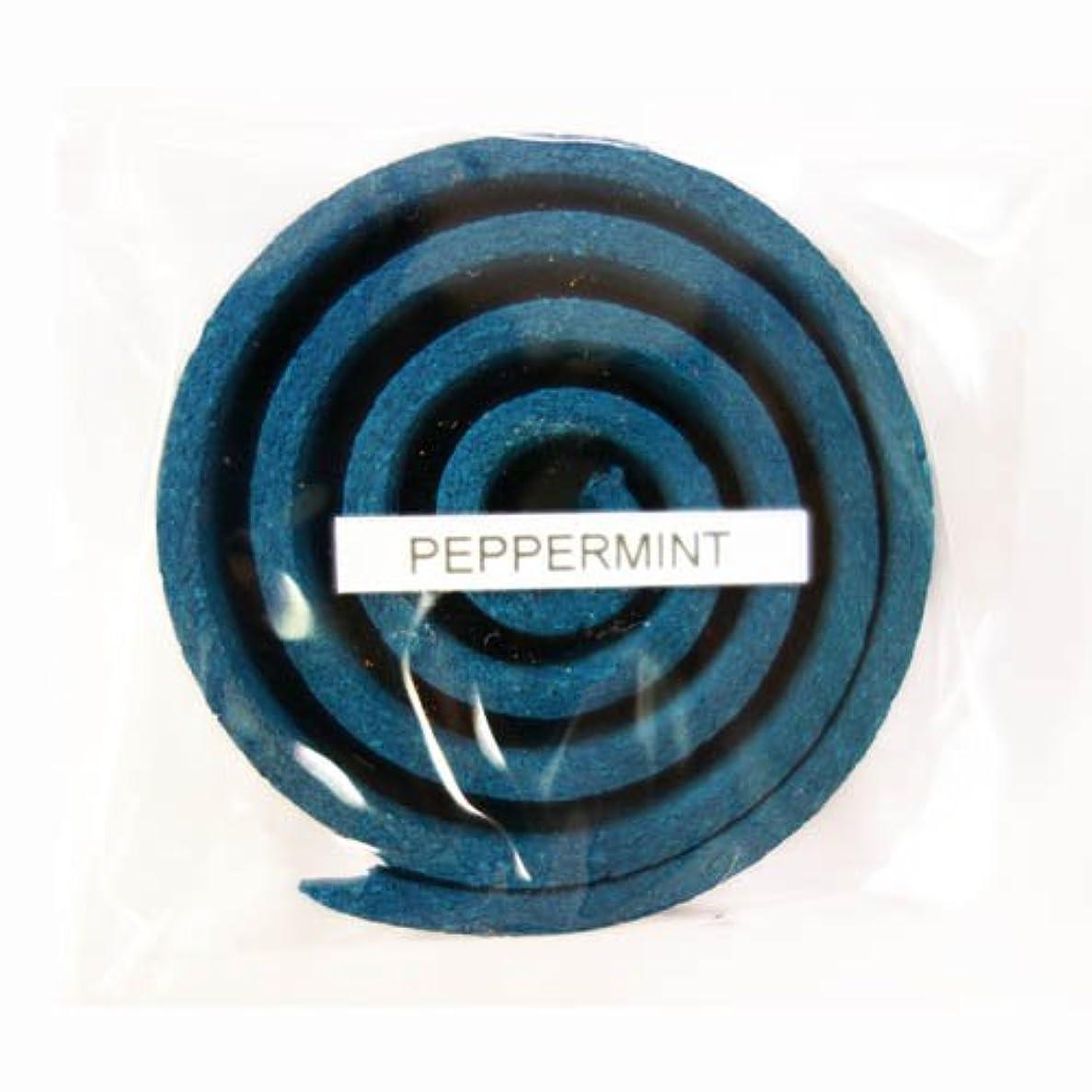 怠惰小さな理解お香/うずまき香 PEPPERMINT ペパーミント 直径5cm×5巻セット [並行輸入品]
