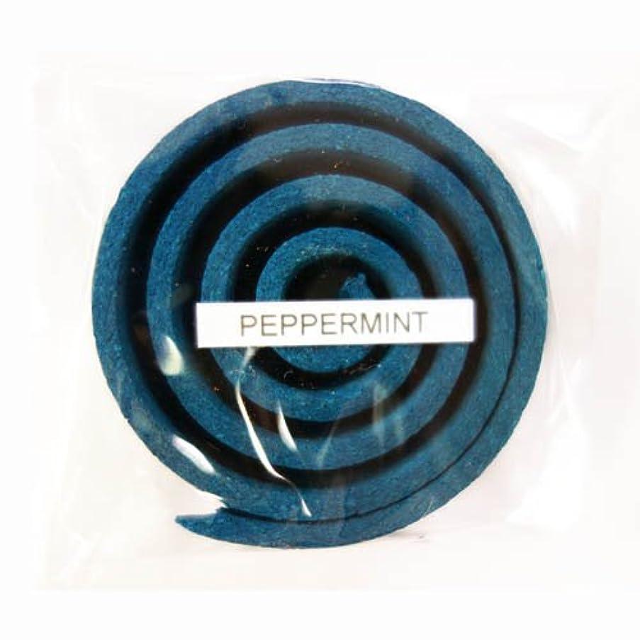 通知する拒絶する好意お香/うずまき香 PEPPERMINT ペパーミント 直径5cm×5巻セット [並行輸入品]