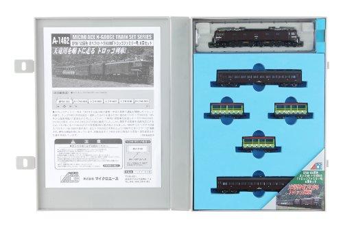 Nゲージ A1462 EF58-122茶色・オハフ・トラ「トロッコファミリー号」6両セット