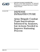 Defense Infrastructure: Army Brigade Combat Team Inactivations Informed by Analyses, but Actions Needed to Improve Stationing Process