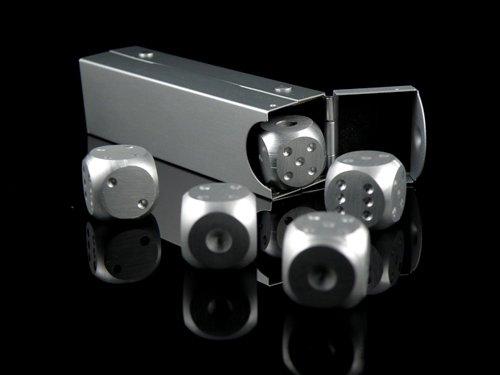 メタルサイコロ 5個セット 専用ケース付き