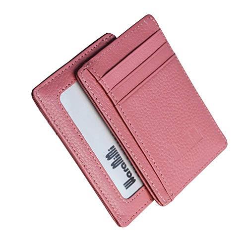 waramimi 革 パスケース 定期入れ スリム Suicaケース レディース icカードケース かわいい スイカケース メンズ 免許入れ 薄型 IDカードケース シンプル ICOCA Pitapa プレゼント7色(ベビーピンク)