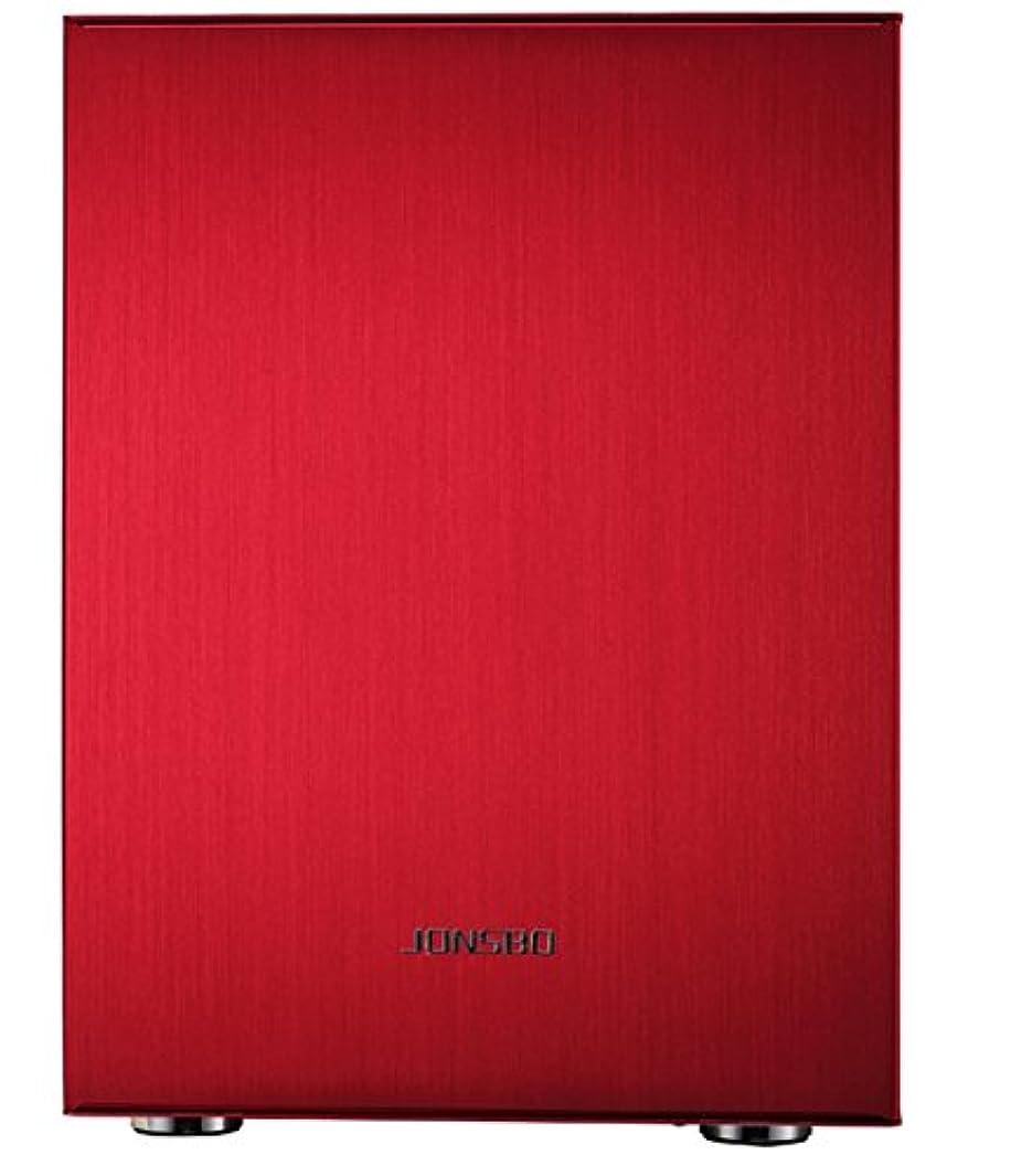 印刷するメリークライマックスPCケース JONSBO C2R レッド