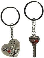 Generic Key to My Heart Cute Couple Keychain (BETY84944-F) [並行輸入品]