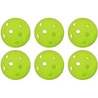 GP (ジーピー) 野球 バッティング トレーニングボール 穴あき PE素材 蛍光緑  72mm 【6個/24個/48個】