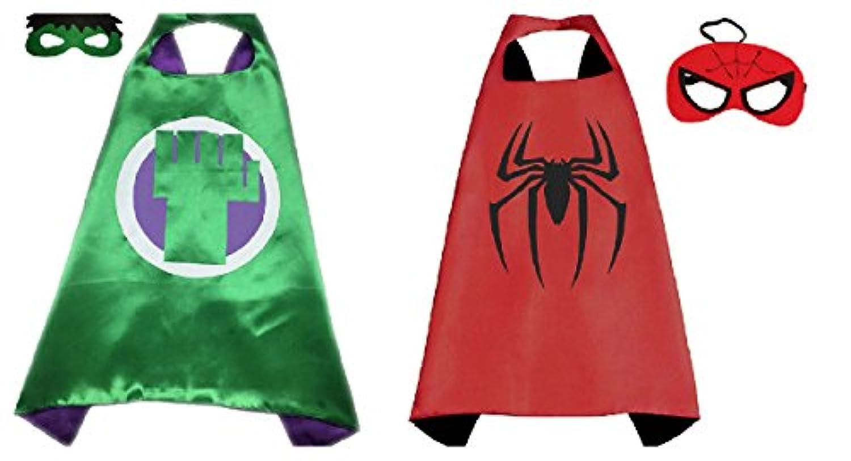 Hulk &スパイダーマンコスチュームケープ – 2種、2マスクwithギフトボックスbyスーパーヒーロー