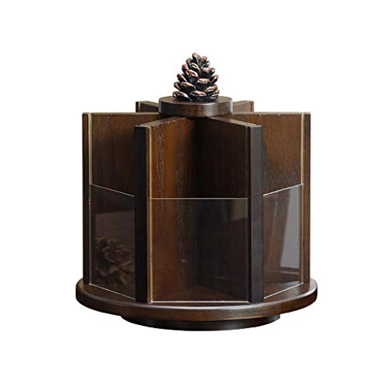 優先許される特殊純木360度回転化粧品収納ボックスヨーロッパドレッシングテーブルデスクトップ収納ラックスキンケアラック