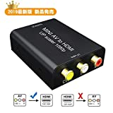AV to HDMI変換コンバーター GANA RCA to HDMI変換コンバーター 720P/1080P対応 音声転送 USB給電ケーブル付き PS3 /PS4 /XBOX/PC/カーナビ/Nintendo switch/TV用 AV to HDMI 変換器