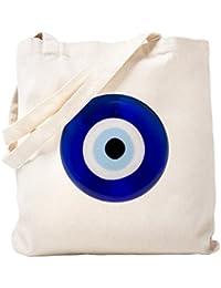 CafePress – Nazar Amulet Evil Eye Protection Tote Bag – ナチュラルキャンバストートバッグ、布ショッピングバッグ S ベージュ 1395067085DECC2