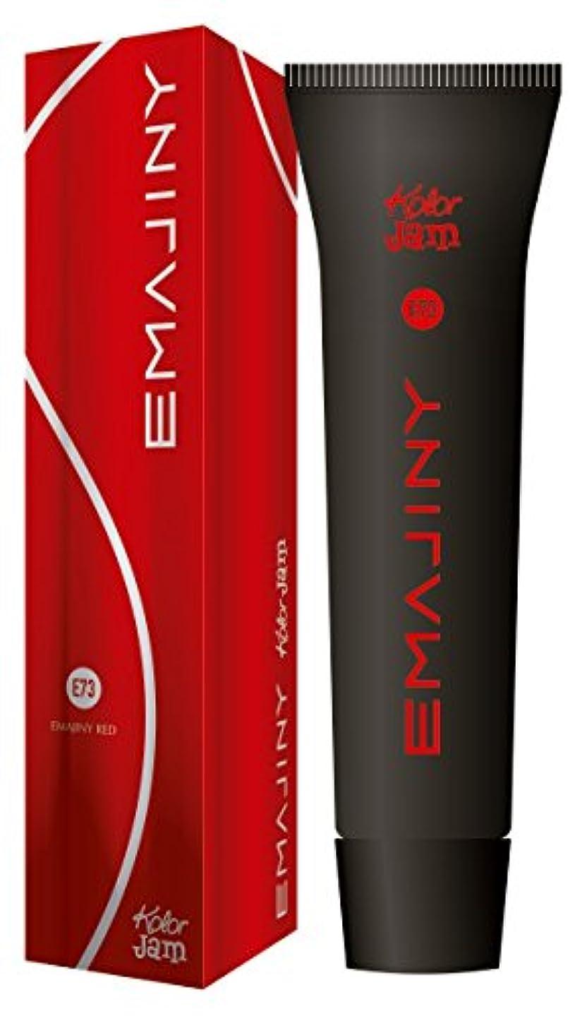 キモい溶かすまっすぐEMAJINYカラージャム Emajiny Red E73 レッド 赤 【クリアランスセール50%OFF】【日本製】【無香料】