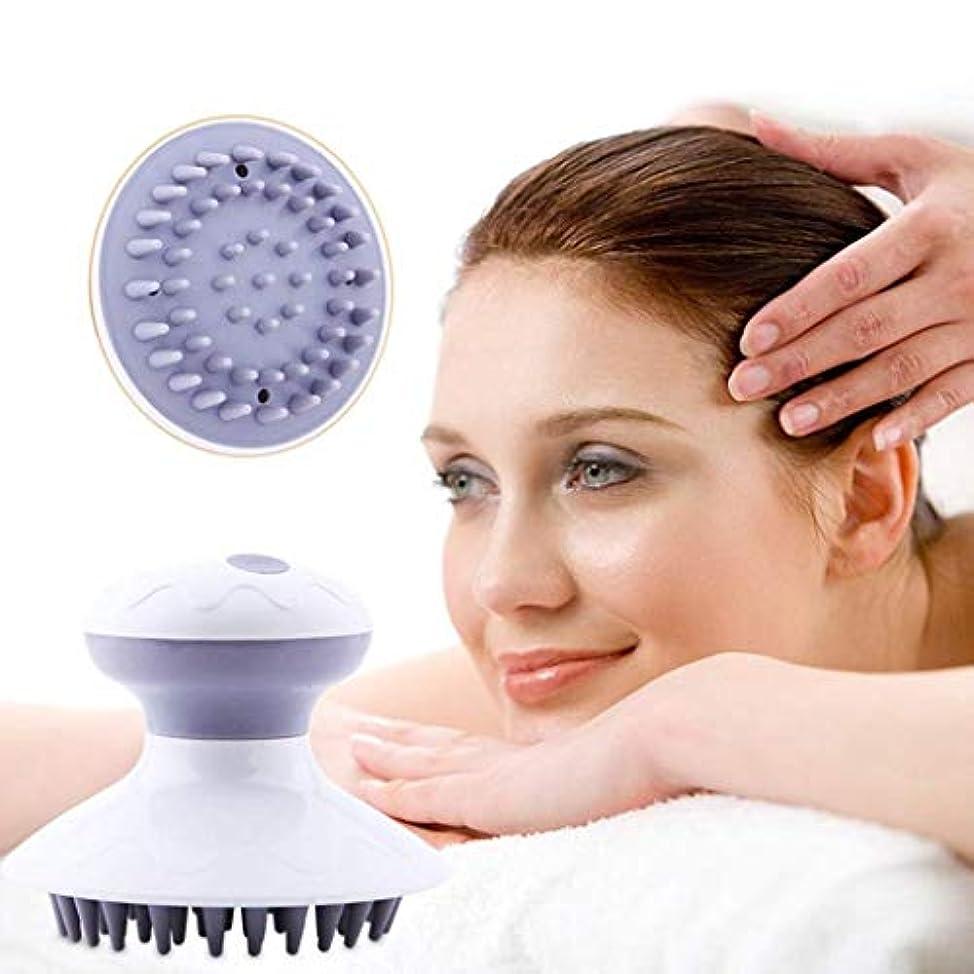 電気頭皮のマッサージャー、リラックスして刺激するためのヘッドマッサージャーの手持ち型の防水シャンプー、血の循環を改善すること