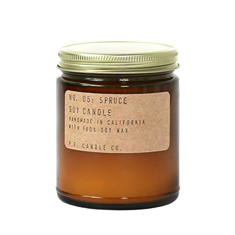 誓い散歩切るp.f. Candle Co。 – No。05 : Spruce Soy Candle (標準7.2 Oz)