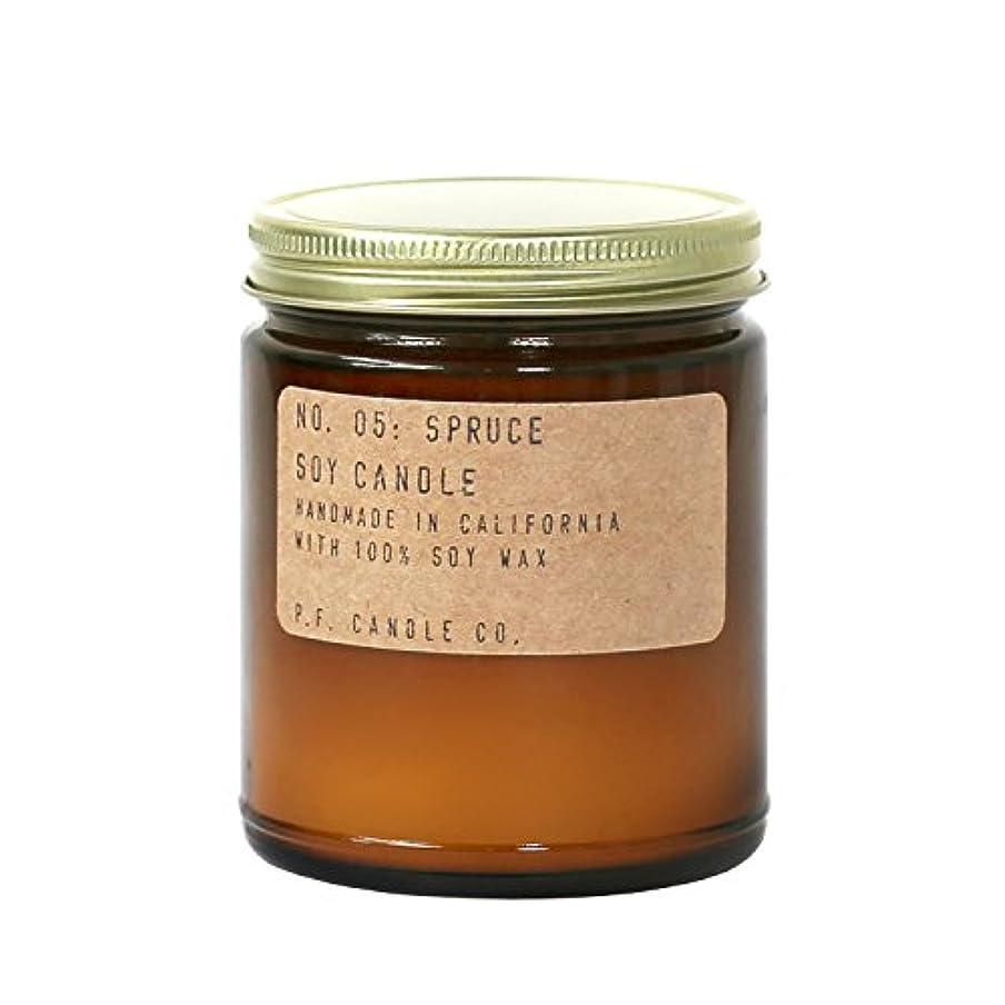 多様体収まるバンジージャンプp.f. Candle Co。 – No。05 : Spruce Soy Candle (標準7.2 Oz)