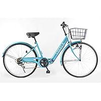 21Technology CT266 2018年新型 折りたたみ自転車 シティサイクル ママチャリ 26インチ シマノ製6段変速ギア付き